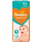 Pampers Sleep & Play 4, 9 - 14 kg plenkové kalhotky 50 kusů