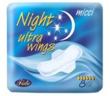 Micci Ultra Wings Night intimní vložky s křidélky 8 kusů