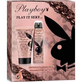 Playboy Play It Sexy deodorant sprej 150 ml + sprchový gel 150 ml, kosmetická sada