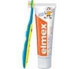 Elmex Cvičný 0-3 roky měkký zubní kartáček 1 kus + pasta pro děti 12 ml