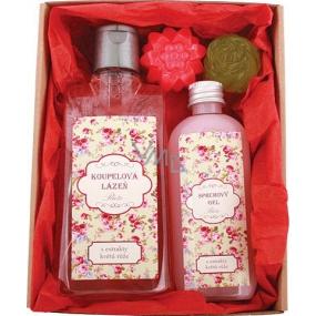 Bohemia Gifts & Cosmetics Pro babičku koupelová lázeň 200 ml + sprchový gel 100 ml + ručně vyráběné mýdlo 2 x 30 g, kosmetická sada