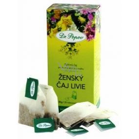 Dr.Popov Ženský čaj Livie bylinný čaj pro hormonální rovnováhu 20 nálevových sáčků 30 x 1,5 g