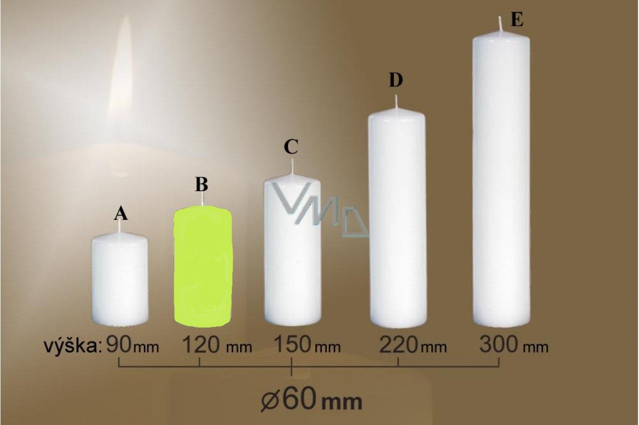 Lima Svíčka hladká světle zelená válec 60 x 120 mm 1 kus