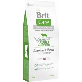 Brit Care Grain-free Adult Large Breed Salmon & Potato bezobilné krmivo pro dospělé psy velkých plemen 12 kg
