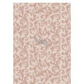 Ditipo Vánoční balicí papír oranžovo hnědý krajkový vzor 100 x 70 cm 2061002 2 kusy