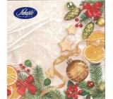 Nekupto Vánoční papírové ubrousky Bílé, vánoční motiv 33 x 33 cm 3 vrstvé 20 kusů 061 02