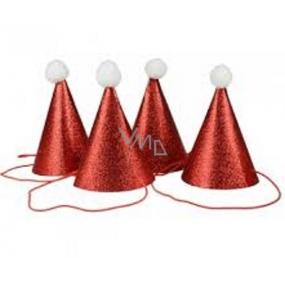 Mikuláš / Santa klobouček brokátový 1 kus