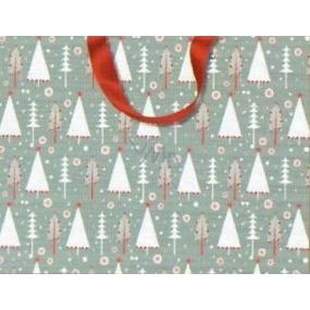 Nekupto Dárková papírová taška s ražbou 23 x 18 cm Vánoční 1499 WLFM