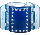 Linziclip Midi Vlasový skřipec perleťově modrý s krystalky 3,5 cm vhodný pro středně husté a husté vlasy 1 kus