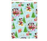 Ditipo Disney Vánoční balicí papír pro děti světle modrý Mickey a Minnie na lanovce 2 m x 70 cm