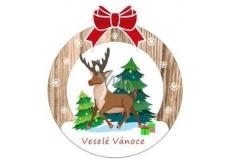 Albi Dřevěná vyřezávaná vánoční ozdoba Jelen 9,5 x 8,5 cm
