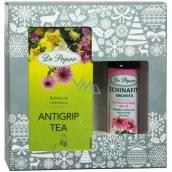 Dr. Popov Echinafit imunita originální bylinné kapky 50 ml +Antigrip Tea bylinný porcovaný čaj s echinaceou 30 g - 20 nálevových sáčků, vánoční dárková sada
