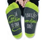 Nekupto Rodinné dárky s humorem Ponožky Já nesmrdím, velikost 43-46