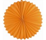 Lampion kulatý oranžový 25 cm