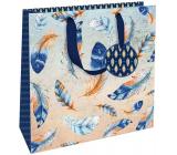 Nekupto Dárková papírová taška luxusní střední 23 x 23 x 10 cm 1842 LIM