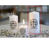 Lima Horoskop Váhy svíčka válec 60 x 120 mm 1 kus