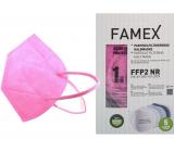 Famex Respirátor ústní ochranný 5-vrstvý FFP2 obličejová maska růžová 1 kus