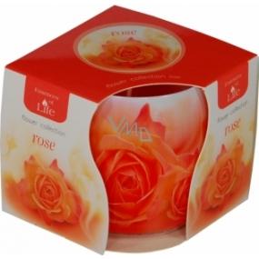 Essences of Life Růže aromatická svíčka ve skle 100 g
