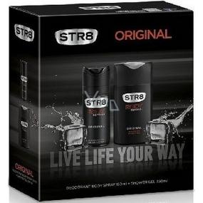 Str8 Original deodorant sprej pro muže 150 ml + sprchový gel 250 ml, kosmetická sada