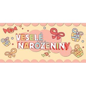 Bohemia Gifts & Cosmetics Veselé narozeniny Mléčná čokoláda dárková 100 g