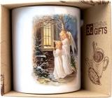 Bohemia Gifts Keramický hrnek s obrázkem Dva andělé 350 ml