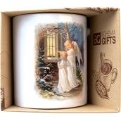 Bohemia Gifts & Cosmetics Keramický hrnek s obrázkem Dva andělé 350 ml