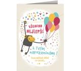 Nekupto Hrací přání k narozeninám Special s efekty Balonky 156 x 223 mm