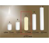 Lima Gastro hladká svíčka slonová kost válec 50 x 170 mm 1 kus