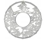 Yankee Candle Winter Trees - Zimní stromy ozdobný prstenec na střední a velké vonné svíčky Classic Illuma Lid