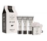 Scottish Fine Soaps Au Lait tělové máslo 75 ml + sprchový krém 75 ml + šampón 75 ml+ mýdlo 40 g, kosmetická sada