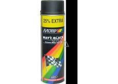 Motip Matt Black černý matný akrylový lak 500 ml