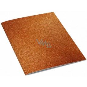 Ditipo Sešit Glitter Collection A4 linkovaný oranžový 21 x 29 cm 3424