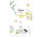 Dove Nourishing Secrets Osvěžujíci Go Fresh Touch Okurka & Zelený sprchový gel 250 ml + toaletní mýdlo 100 ml + houba na myti, kosmetická sada