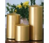 Lima Svíčka hladká metal zlatá válec 60 x 120 mm 1 kus