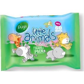 Pure Little Animals čistící ubrousky na ruce a tvář 60 kusů