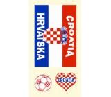 Arch Tetovací obtisky na obličej i tělo Chorvatská vlajka 2 motiv