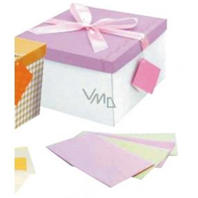 Dárková krabička skládací s mašlí růžová XL 25 x 25 x 14,5 cm 1 kus
