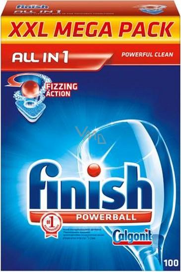 Calgonit Finish Powerball Tabs All-in-1 Classic Regular tablety do myčky nádobí 100 kusů
