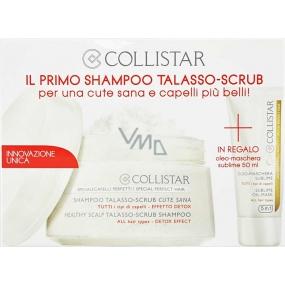 Collistar Talasso-Scrub Shampoo šampon na vlasy 250 ml + Sublime Oil Mask maska na vlasy 50 ml, kosmetická sada