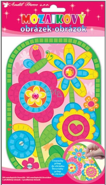 Mozaika Květiny 25 x 14 cm