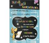 Albi Hrací přání k narozeninám Pes s transparentem Verona za všechno může čas