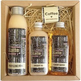 Bohemia Coffee koupelová lázeň 200 ml + sprchový gel 100 ml + šampon na vlasy 100 ml + ručně vyráběné mýdlo 30 g, kosmetická sada