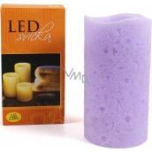 Albi Led svíčka vlnka střední fialová
