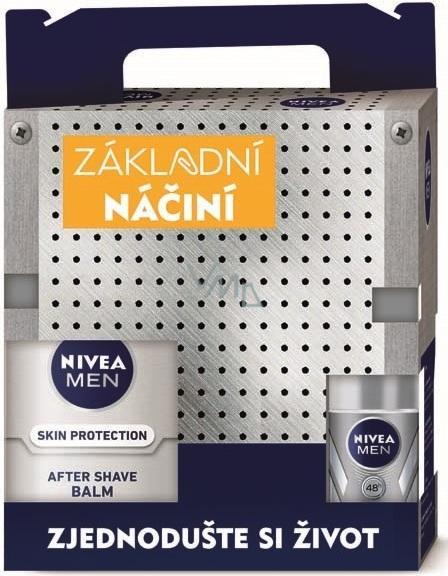 98e925a260 Nivea Men Silver Protect gel na holení 200 ml + balzám po holení 100 ml +  kuličkový antiperspirant 50 ml + Men Krém 150 ml