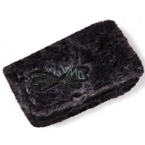 Nici Plyšová peněženka 16x9,5 cm - černá