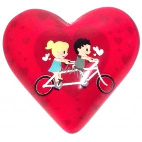 Nekupto Magnet Srdce růžové, kolo 4 cm