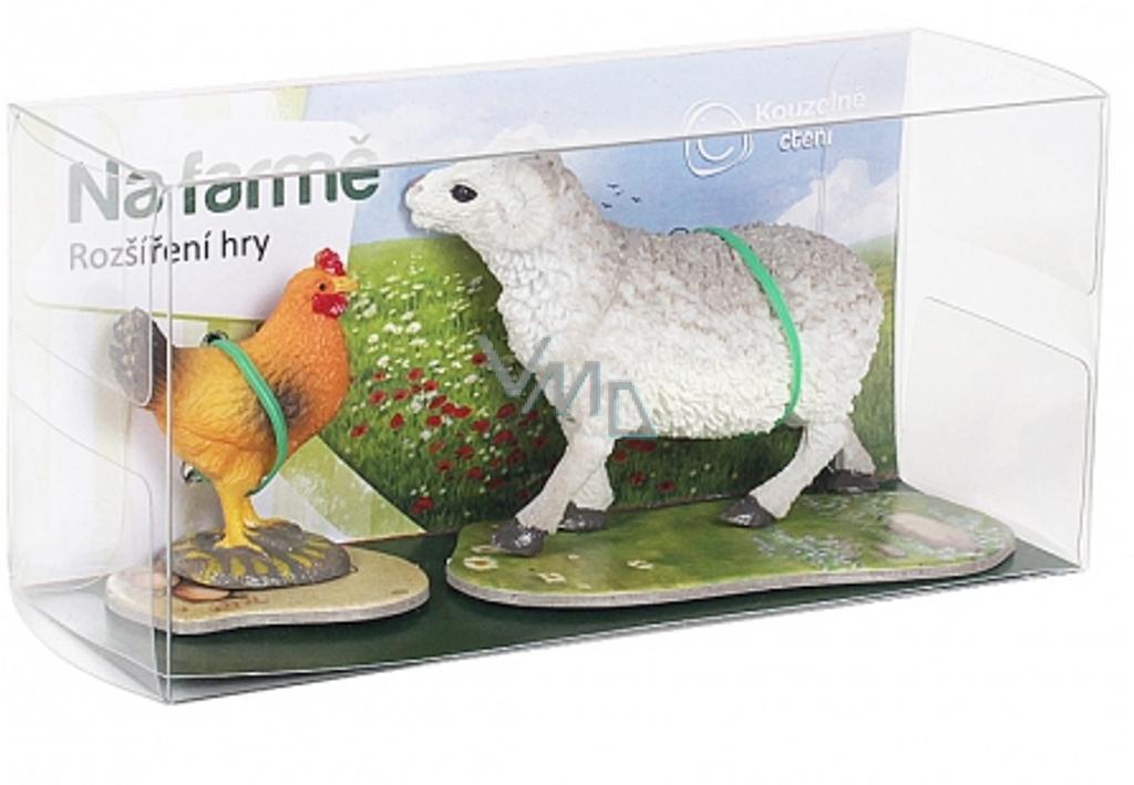 Albi Kouzelné čtení rozšíření hry Na farmě 1 sada zvířátek beran a slepice