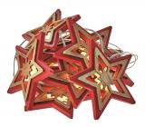 Emos Osvětlení vánoční řetěz hvězdy 1,35 m, 10 LED, teplá bílá + 0,3 m přívodní kabel
