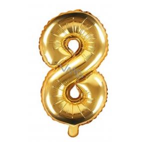 Balónek nafukovací číslo 8, 35 cm fóliový