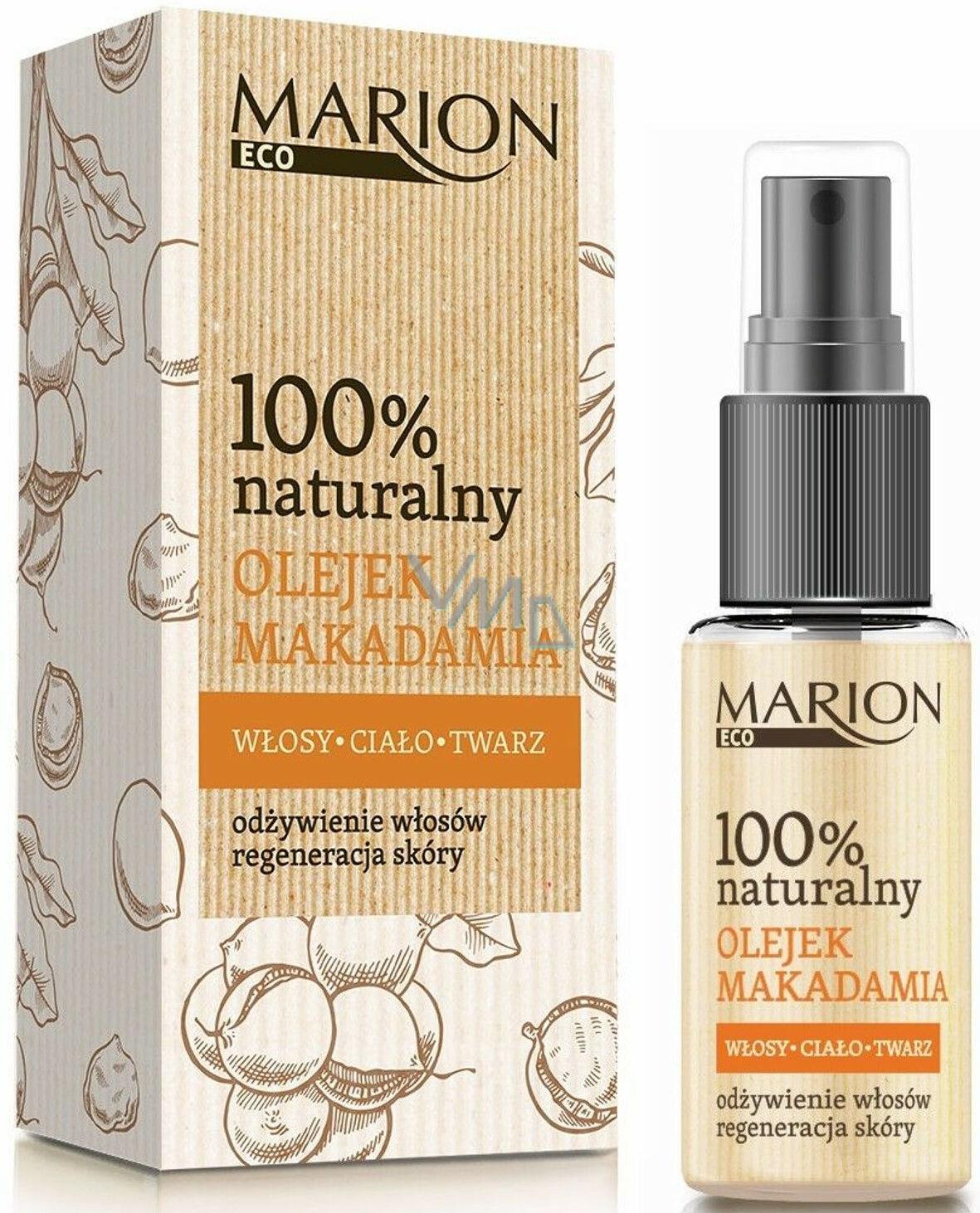 Marion Eco Makadamové oříšky 100% přírodní bio olej pro vlasy, pleť a tělo, regenerace pokožky 25 ml